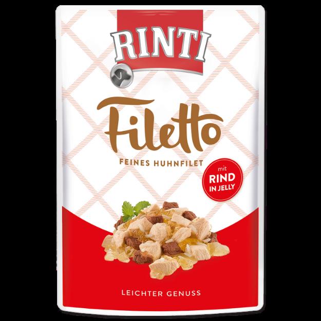 Kapsicka RINTI Filetto kure + hovezí v želé 100g