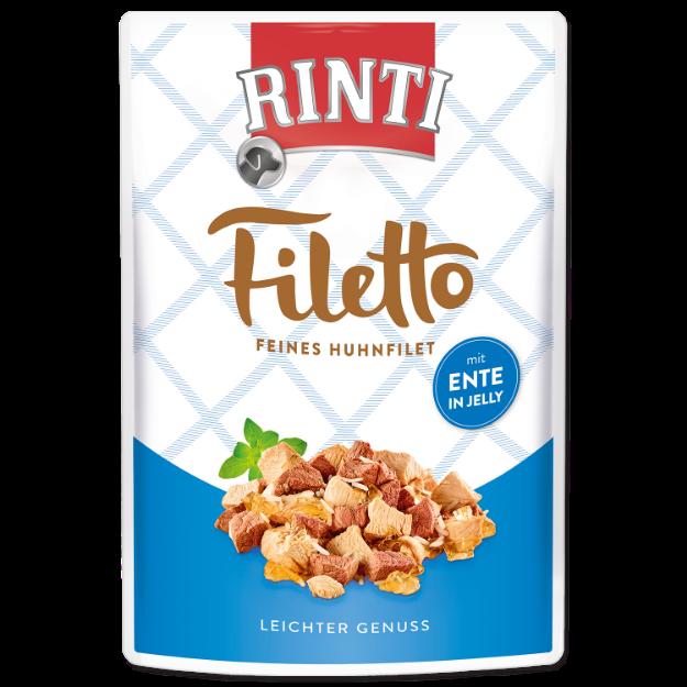 Kapsicka RINTI Filetto kure + kachna v želé 100g
