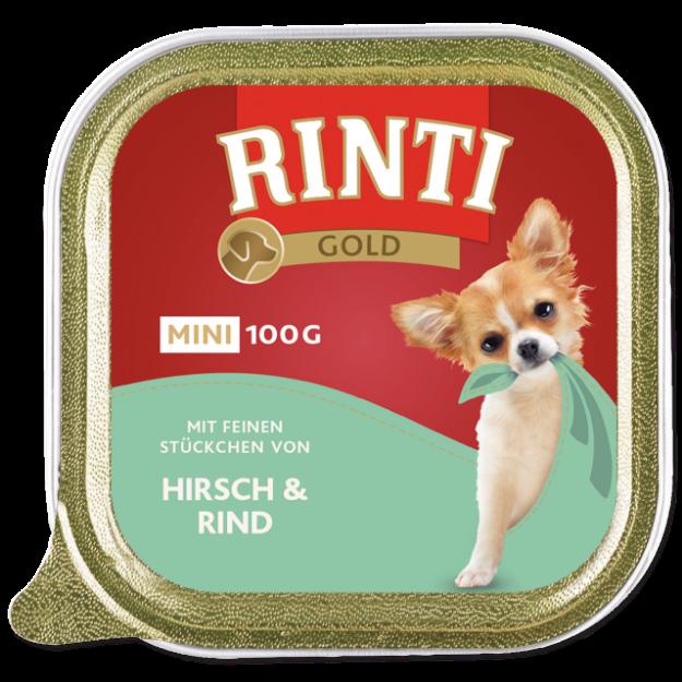 Vanicka RINTI Gold Mini jelen + hovezí 100g