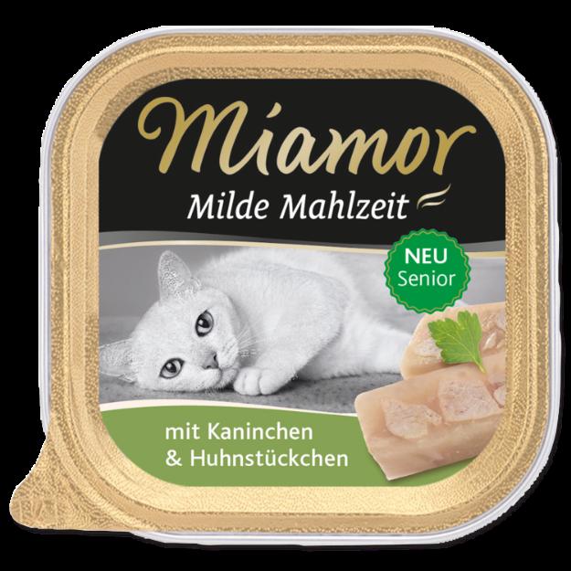 Picture of Vanička MIAMOR Milde Mahlzeit Senior králík + kuřecí kousky 100g