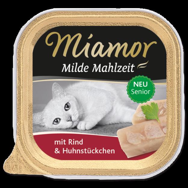Picture of Vanička MIAMOR Milde Mahlzeit Senior hovězí + kuřecí kousky 100g